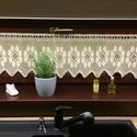 """""""Margaréta""""-Vitrázs horgolt,ekrü csipke függöny., Otthon & lakás, Dekoráció, Lakberendezés, Lakástextil, Függöny, Más hasonló termékek ötvözete alapján,egy saját rajz variációt készítettem a rendelő kívánságával eg..., Meska"""