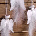 Repülő angyalkák-Hófehér,igazi tollpihés,glóriás angyalok, Az angyalokról alkotót mondásokból,született ...
