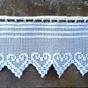 Bohém szívek vonzásában-Horgolt fehér, függöny., Ez a függöny Andi részére készült. Mérte: 3...