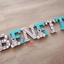 BETŰ, babanév felirat, dekoráció, polisztirol betű - rendelhető, Gyerek & játék, Otthon & lakás, Gyerekszoba, Dekoráció, Gyereknap, Ünnepi dekoráció, Mindenmás, 6 betűs név (1500 Ft/betű)  Egyedi igény szerint, kézzel diszitett xps polisztirol betűket készitün..., Meska