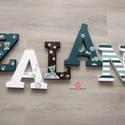 BETŰ, babanév felirat, dekoráció, polisztirol betű - rendelhető, Otthon & lakás, Gyerek & játék, Dekoráció, Dísz, Gyerekszoba, Festett tárgyak, 5 betűs név (1700 Ft/betű)  Egyedi igény szerint, kézzel díszített xps polisztirol betűket készítün..., Meska