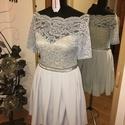 Alkalmi ruha, Ruha, divat, cipő, Női ruha, Estélyi ruha, Ruha, Csipkével , strasszal díszített egyedi alkalmi ruha, 38-as méretű, rugalmas anyagból, Meska