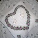Gyűrűpárna JUDITNAK!!!, Judit kérésére készítettem ezt a párnát! Fe...