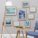 Esztétikus galéria fal szett kék, Otthon & Lakás, Dekoráció, Kép & Falikép, Újrahasznosított alapanyagból készült termékek, Festészet,  A legkülönlegesebb festményeim ART PRINT-jeiből és pozitív szavakból, melyeket én terveztem, hogy ..., Meska