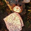 Nyúl Bori/Berci alvós nyuszi, Baba-mama-gyerek, Játék, Baba játék, Játékfigura, Varrás, Nyúl Bori és Nyúl Berci plüss, flanel, pamut és filc anyagból készült, ruháján színes szalagokkal. ..., Meska