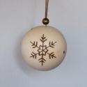 """karácsonyi fagömb \""""hókristály\"""", Dekoráció, Ünnepi dekoráció, Karácsonyi, adventi apróságok, Karácsonyfadísz, Karácsonyi dekoráció, Gondoskodj már most az idei karácsonyi ajándékokról, díszekről! Csak bátran akaszd föl, nem kell fél..., Meska"""