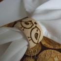 Madárkás szalvétagyűrű fából (egy pár), Dekoráció, Férfiaknak, Konyhafelszerelés, Ünnepi dekoráció, Famegmunkálás, Varrás, A nagy érdeklődésre való tekintettel készítettem ezeket a natúr fából készült szalvétagyűrűket a sz..., Meska