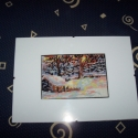 modern gobelin, Dekoráció, Otthon, lakberendezés, Kép, 16 x 11 cm a kép, 30x 21 cm-es üveglap keretben., Meska