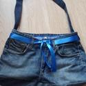 Farmer táska , Táska, Válltáska, oldaltáska, Csinos farmer táska, 44 cm x 30 cm, Meska