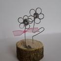 drót virág, tavaszi dekoráció, Dekoráció, Dísz, magassága kb : 6 cm,                                                          az ár egy termékre ..., Meska