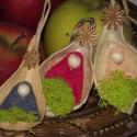 Karácsonyi apróság, Dekoráció, Karácsonyi, adventi apróságok, Karácsonyfadísz, Karácsonyi dekoráció, Fonás (csuhé, gyékény, stb.), Ajánlom mindenkinek, akik szeretik a karácsonyi apróságokat a kezeikben melengetni, engedve hogy az..., Meska