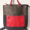 Most akciós! Bindy többfunkciós bőr-textil kombi táska , Most akcióban! 34 ezer forint helyett 25 ezer for...