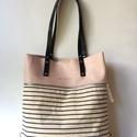 Mobile bag  2 részes táska oldaltáska rózsaszín-csíkosalj, Táska, Válltáska, oldaltáska, Hátizsák, Szatyor, Mobile bag elnevezés abból adódik, hogy ez a táska mobilokból áll. 1. mobil - felsőrész: tiszta bőr,..., Meska