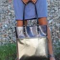 Mobile bag  2 részes táska oldaltáska sötétkéklakk-fényesalj, Táska, Válltáska, oldaltáska, Hátizsák, Szatyor, Mobile bag elnevezés abból adódik, hogy ez a táska mobilokból áll. 1. mobil - felsőrész: tiszta bőr,..., Meska