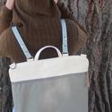 Mobile bag 2 részes táska hátizsákos résszel beige-khakizöld alj, Táska, Válltáska, oldaltáska, Hátizsák, Szatyor, AKCIÓ! júliusban bevezető áron kapható 23 ezer helyett 19 ezer forintért. Mobile bag elnevezés abból..., Meska