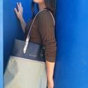 Mobile bag  2 részes táska oldaltáska  sötétkék-khaki , Táska, Válltáska, oldaltáska, Hátizsák, Szatyor, Mobile bag elnevezés abból adódik, hogy ez a táska mobilokból áll. 1. mobil - felsőrész: tiszta bőr,..., Meska