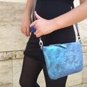 Boubble kistáska csillogós kék-türkiz bőr, Ez a kistáska egy bevált modell újraértelmezé...