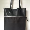 MOBILE BAG limitált fekete felsőrész-fekete alsórész, Táska, Válltáska, oldaltáska, Hátizsák, Szatyor, Mobile bag limitált kiadású darabjainak egyike.  Mobile bag elnevezés abból adódik, hogy ez a táska ..., Meska