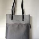 MOBILE BAG limitált szürke felsőrész-szürkeezüst alsórész, Táska, Válltáska, oldaltáska, Hátizsák, Szatyor, Mobile bag limitált kiadású darabjainak egyike.  Mobile bag elnevezés abból adódik, hogy ez a táska ..., Meska