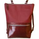 Tekla's hátizsák bordós színben, Táska, Hátizsák, Válltáska, oldaltáska,  TEKLA's hátizsák. Marhabőr felhasználásával készül. mérete:  szélesség: 33 cm mélysége: 9 cm magass..., Meska