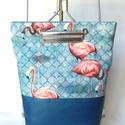 TEKLA EDEN hátitáska Flamingo-kék, Táska, Hátizsák, Tekla EDEN hátizsák-backpack.  Műbőr és textil felhasználásával készült. mérete:  szélesség: 33 cm, ..., Meska
