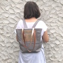 Lindy bag ezüstös bőrrel, Táska, Válltáska, oldaltáska, Hátizsák, Lindy bag egy igazi vagány nyári társ, mind anyagválasztása, mind fazonja miatt, hiszen tudjátok has..., Meska