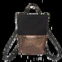 Tekla's bag fekete-bronz, Táska, Hátizsák, TEKLA's hátitáska.  Cordura és marhabőr felhasználásával készült. mérete:  szélesség: 33 cm, alul 24..., Meska