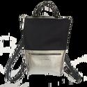Tekla's bag fekete-ezüst, Táska, Hátizsák, TEKLA's hátitáska.  Cordura és marhabőr felhasználásával készült. mérete:  szélesség: 33 cm, alul 24..., Meska