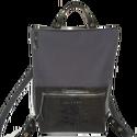 Tekla's bag sötétszürke-crocomintás bőr, Táska, Hátizsák, TEKLA's hátitáska.  Cordura és marhabőr felhasználásával készült. mérete:  szélesség: 33 cm, alul 24..., Meska