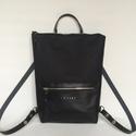 Tekla's bag hátitáska, táska fekete, Táska, Hátizsák, TEKLA's hátitáska.  Cordura és marhabőr felhasználásával készült. mérete:  szélesség: 33..., Meska