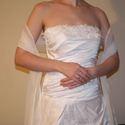 Muszlin stóla, vállkendő, Esküvő, Muszlinból készült hosszú stóla, vállkendő esküvőre, szalagavatóra, alkalmi ruhához!  Egy..., Meska
