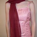 Muszlin stóla, vállkendő -  rózsaszín, bordó, Esküvő, Muszlinból készült hosszú stóla, vállkendő esküvőre, szalagavatóra, alkalmi ruhához!  Egy..., Meska