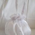 Strasszköves menyasszonyi szütyő, új, nagy, Esküvő, Fényes szatén selyem anyagból készült klasszikus, buggyos menyasszonyi kis táska az apróságoknak, so..., Meska