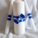 Masnis, gyöngyös ceremónia gyertyaszett, Esküvő, Az esküvő egyik legszebb pillanatához, a gyertya ceremóniához szükséges három  gyertyából álló szett..., Meska