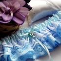 Szerelem esküvői combcsipke, legényfogó, Esküvő, Ebben a kiegészítőben minden megtalálható, ami egy esküvői combcsipkét jelemez: elegancia, báj és tü..., Meska