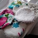 Mosható textil arctisztító korong - mintás, NoWaste, Textilek, Pamut arctisztító, A környezettudatosság jegyében készültek ezek az arctisztító korongok, melyeknek egyik oldala nedvsz..., Meska