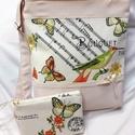 Madaras táska+neszesszer, Baba-mama-gyerek, Táska, Válltáska, oldaltáska, Varrás, Különlegesen szép mintázatú vászon lett a dísze ennek a táskának.erős,strapabíró,mindennapos haszná..., Meska