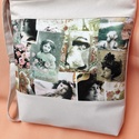 Romantikus táska-oldaltáska, Baba-mama-gyerek, Táska, Válltáska, oldaltáska, Varrás, Csodás pamutvászon betét lett a dísze ennek a táskának.Erős,strapabíró,jó tartású,amit a belevarrt ..., Meska
