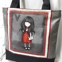 Gorjuss válltáska, Baba-mama-gyerek, Táska, Válltáska, oldaltáska, Varrás, A nagyméretű táskákat kedvelők figyelmébe ajánlom ezt a táskát.Mindennapos használatra tökéletesen ..., Meska