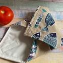 Hal mintás újraszalvéta/textil szalvéta, Mosható szalvéta uzsonna csomagolásához.  A sz...