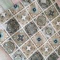 Marokkói mintás újraszalvéta, Mosható szalvéta uzsonna csomagolásához.  A sz...