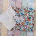 Virág mintás újraszalvéta/textil szalvéta, Mosható szalvéta uzsonna csomagolásához.  A sz...