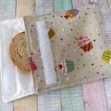 Muffin mintás uzsonnás tasak / snackbag, Mosható  uzsonnás tasak.   A tasak külső oldal...
