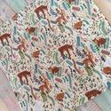 Erdei állatka mintás újraszalvéta/ textil szalvéta, Mosható szalvéta uzsonna csomagolásához.  A sz...