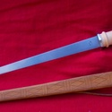 Rondell tőr  BD-002, Férfiaknak, Hagyományőrző ajándékok, Bőrművesség, Fémmegmunkálás, 15.századra jellemző Rondell tőr tokkal.Teljes hossza 44cm , penge hossza 31,5cm , vastagsága 5mm ,..., Meska