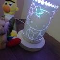 Hello Kitty, Otthon & lakás, Dekoráció, Lakberendezés, Gravírozás, pirográfia, A kislányok szobájából nem hiányozhat egy tündéri Hello Kitty éjjeli lámpa. Megnyugtatja a kis lelk..., Meska