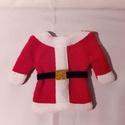 Evőeszköz tartó , Dekoráció, Karácsonyi, adventi apróságok, Ünnepi dekoráció, Karácsonyi dekoráció, Varrás, Mikulás ruha evőeszköz tartó. Polár anyagból készült, 12cm magas evőeszköz tartó. A várakozás idejé..., Meska