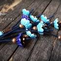 ESTIKE, Ékszer, Fülbevaló, Ékszerkészítés, Üde, frissítő, illatos tavaszt idéznek ezek a vidám kis kerámia virágok, így csokorba szedtem őket,..., Meska