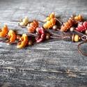 KASVIRÁG, Ékszer, Fülbevaló, Ékszerkészítés, Üde, frissítő, illatos tavaszt idéznek ezek a vidám kis kerámia virágok, így csokorba szedtem őket,..., Meska