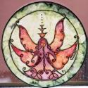 Őrangyal selyem ablakkép, Varázskép sorozatom darabjai közül egy Őrangy...